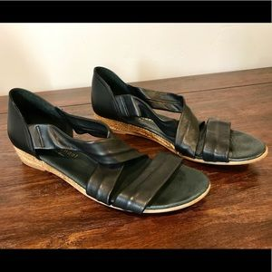 Eric Michael Black Leather Sandals size 10/40